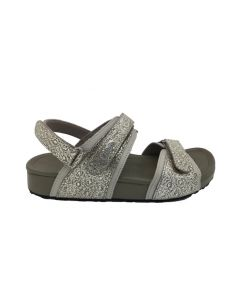Joy Amalfi Sandal in Silver Snake, Side
