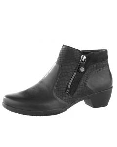 Fidelio Grace Ankle Boot in Black leather