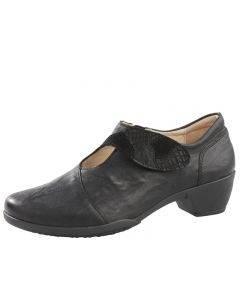 Fidelio Grace Velcro Shoe in Black leather
