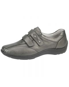 Waldlaufer Henni Velcro Shoe in Pewter leather
