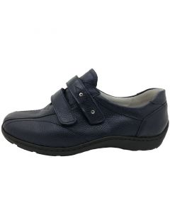 Waldlaufer Henni Velcro Shoe in Navy Leather