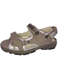 Waldlaufer Herki Walking Sandal in taupe and Silver