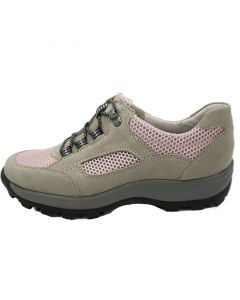 Waldlaufer Holly Walking Trainer in Pink and Grey