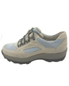 Waldlaufer Holly Walking Trainer in Pale Blue and Grey