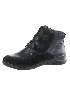 Fidelio Jayley Lace Up Boot in Black leather