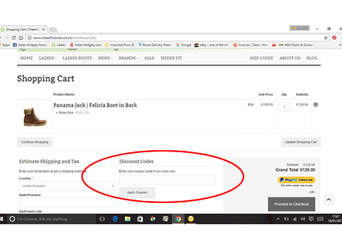 Step 2 how to apply discount codes