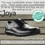 Great Customer Review for Mens Joya Shoes