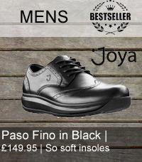Joya mens paso fino in black leather