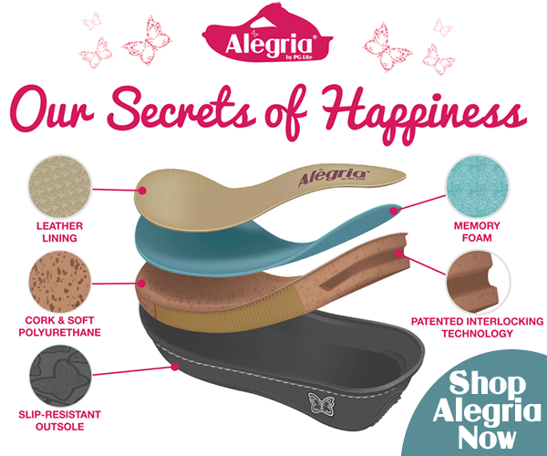 The patented Alegria Foot Bed